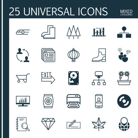 Set Of 25 Universal Editable Icons. Can Be Used For Web, Mobile And App Design. Includes Elements Such As Analysis, Doorway, Local Connection And More.