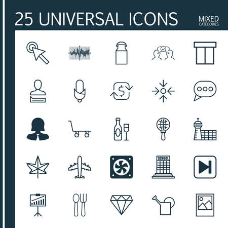 diamond letters: Set Of 25 Universal Editable Icons. Can Be Used For Web, Mobile And App Design. Includes Elements Such As Computer Ventilation, Chatting Person, Message Bubble And More. Illustration