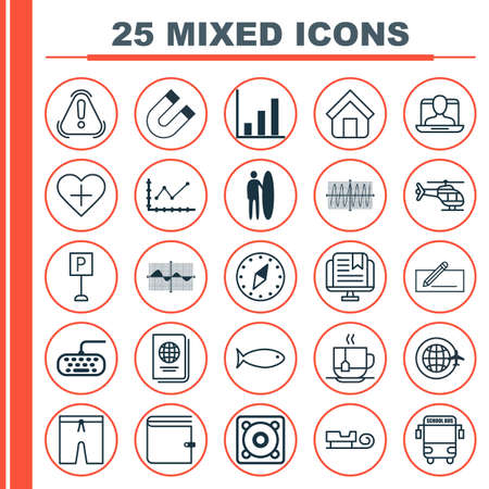 cosine: Set Of 25 Universal Editable Icons. Can Be Used For Web, Mobile And App Design. Includes Elements Such As Estate, Roadsign, Computer Keypad And More.