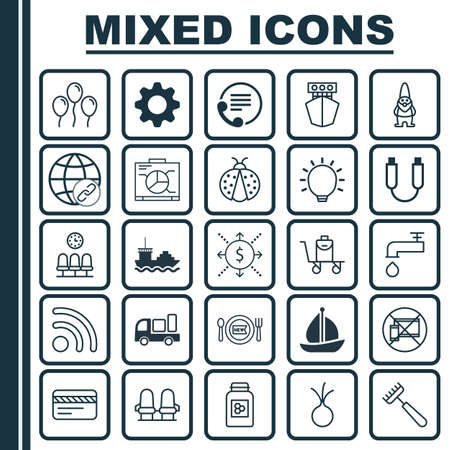 Set Of 25 Universal Editable Icons. Can Be Used For Web, Mobile And App Design. Includes Elements Such As Great Glimpse, Dwarf, Wifi And More.