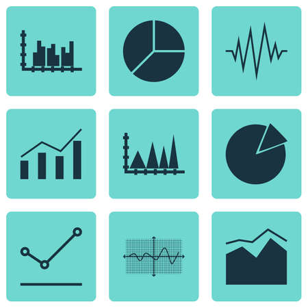 scale icon: Set Of Graphs, Diagrams And Statistics Icons. Premium Quality Symbol Collection. Icons Can Be Used For Web, App And UI Design. Illustration