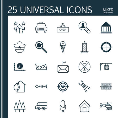 Set Of 25 Universal Editable Icons. Can Be Used For Web, Mobile And App Design. Includes Elements Such As Board, Route, Open Vacancy And More.