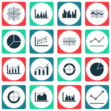 planar: Set Of Graphs, Diagrams And Statistics Icons. Premium Quality Symbol Collection. Icons Can Be Used For Web, App And UI Design. Illustration