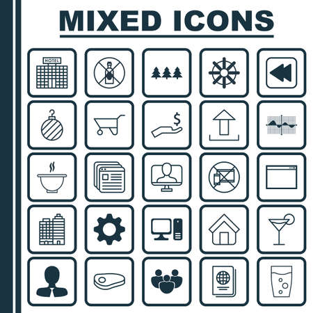 apartment bell: Set Of 25 Universal Editable Icons. Can Be Used For Web, Mobile And App Design. Includes Elements Such As Holiday Ornament, Program, Cocktail And More.