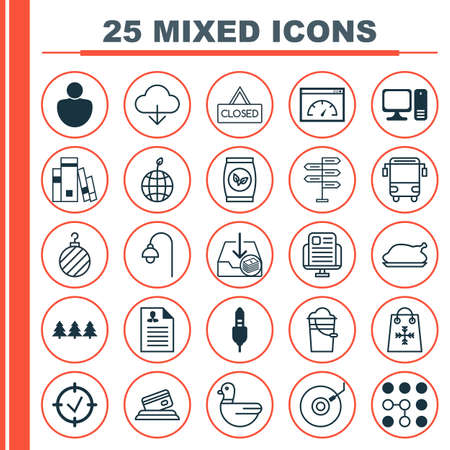 winter grilling: Set Of 25 Universal Editable Icons. Can Be Used For Web, Mobile And App Design. Includes Elements Such As Lamppost, Grains, Goose And More.