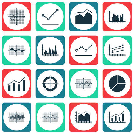 planar: Set Of Graphs, Diagrams And Statistics Icons. Premium Quality Symbol Collection.