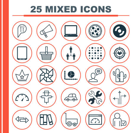 auto focus: Set Of 25 Universal Editable Icons. Can Be Used For Web, Mobile And App Design.
