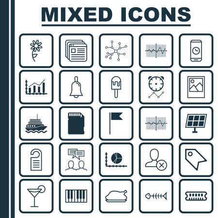 Set Of 25 Universal Editable Icons. Can Be Used For Web, Mobile And App Design. Includes Elements Such As Conversation, Crooked Pointed Line, Sunflower And More. Çizim