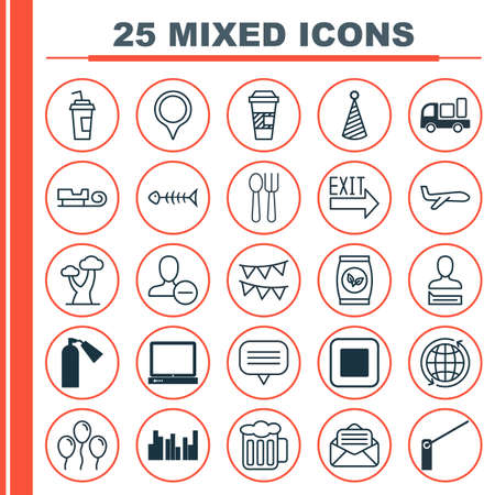 skid: Set Of 25 Universal Editable Icons. Can Be Used For Web, Mobile And App Design. Includes Elements Such As Oak, Read Message, World And More.