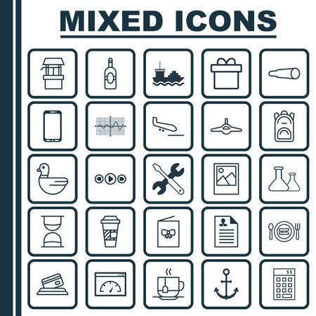 llave de sol: Set Of 25 Universal Editable Icons. Can Be Used For Web, Mobile And App Design. Includes Elements Such As Celebration Card, Credit Card, Fresh Dining And More. Vectores