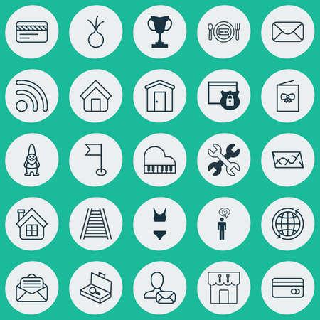 llave de sol: Conjunto De 25 Iconos Editable Universal. Puede ser utilizado para Web, Mobile y diseño de aplicaciones. Incluye elementos tales como granja, comprobación de la maleta, ajo y más.