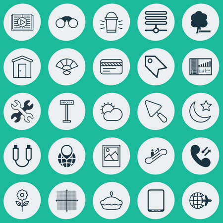 earth moving: Set Of 25 Universal Editable Icons. Can Be Used For Web, Mobile And App Design. Includes Elements Such As Portable Memory, Pin Earth, Moving Staircase And More. Illustration