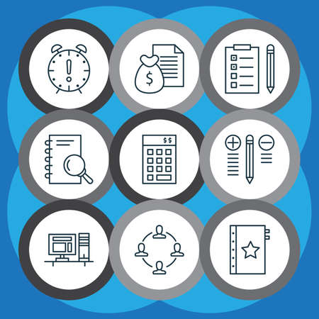 right choice: Set Of 9 Project Management Icons. Includes Analysis, Report, Collaboration And Other Symbols. Beautiful Design Elements.