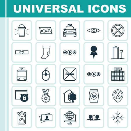 Set di 25 icone modificabili universali. Può essere utilizzato per Web, Mobile e App Design. Include elementi come rete di computer, decorazioni per camini, sicurezza e altro ancora.