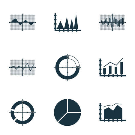 cosine: Set Of Graphs, Diagrams And Statistics Icons. Premium Quality Symbol Collection. Icons Can Be Used For Web, App And UI Design. Illustration