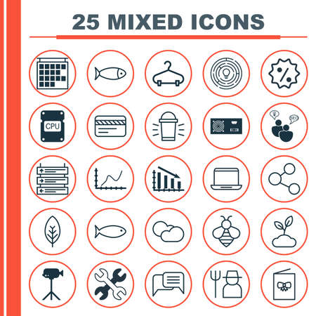 Set Of 25 Universal Editable Icons. Can Be Used For Web, Mobile And App Design. Includes Elements Such As Bank Card, Innovation, Hang Lamp And More.
