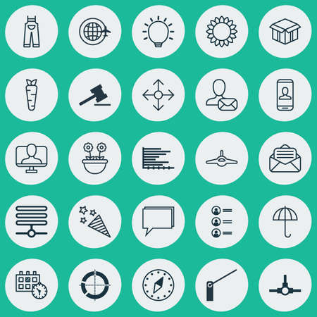 squib: Set Of 25 Universal Editable Icons. Can Be Used For Web, Mobile And App Design. Includes Elements Such As Bars Chart, Firecracker, Roadblock And More.