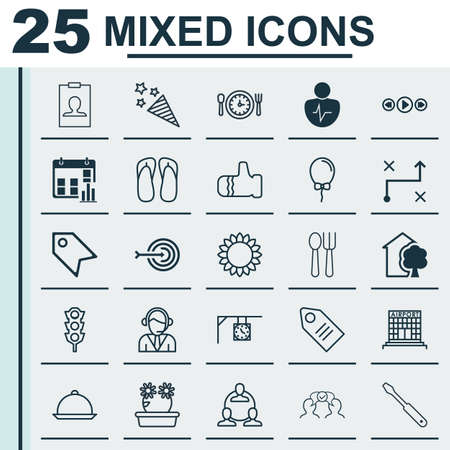 mentality: Set Of 25 Universal Editable Icons. Can Be Used For Web, Mobile And App Design. Includes Elements Such As Meal Hour, Presentation Date, Stoplight And More.