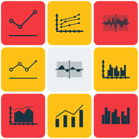 negative area: Set Of Graphs, Diagrams And Statistics Icons. Premium Quality Symbol Collection. Icons Can Be Used For Web, App And UI Design. Illustration
