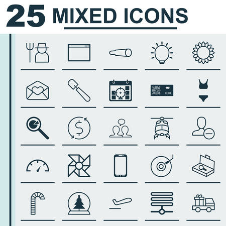 agrarian: Set Of 25 Universal Editable Icons. Can Be Used For Web, Mobile And App Design. Includes Elements Such As Magic Sphere, Speed Checker, Gramophone And More. Illustration