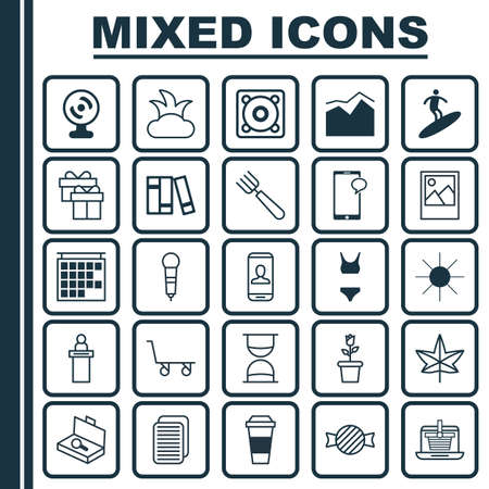 floret: Set Of 25 Universal Editable Icons. Can Be Used For Web, Mobile And App Design. Includes Elements Such As Hourglass, Image, Floret And More.