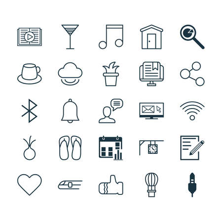hot couple: Set Of 25 Universal Editable Icons. Can Be Used For Web, Mobile And App Design. Includes Elements Such As Project Analysis, Taped Book, Garlic And More. Illustration