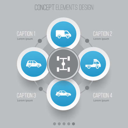 Car Icons Set. Collection Of Truck, Wheelbase, Crossover And Other Elements. Also Includes Symbols Such As Truck, Lorry, Sports.