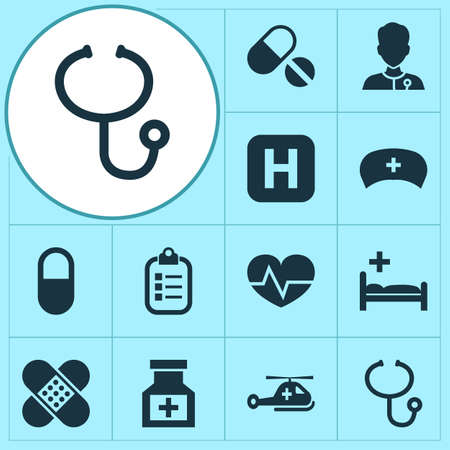 polyclinic: Antibiotic Icons Set. Collection Of Mark, Healer, Review And Other Elements. Also Includes Symbols Such As Medicine, Check, Pellet.