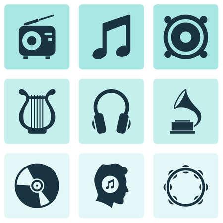 Audio Icons Set Çizim