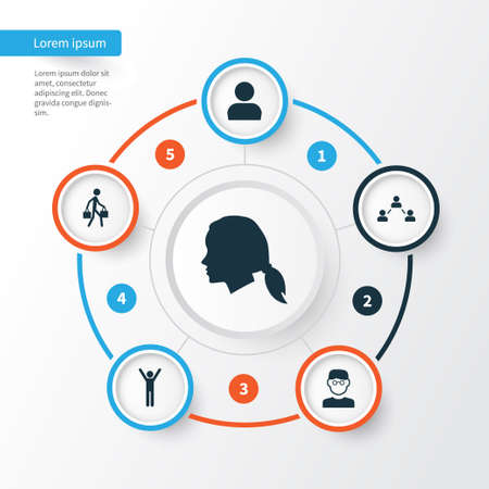 Person Icons Set. Collection Of User, Happy, Scientist And Other Elements. Also Includes Symbols Such As User, Relation, Courier.
