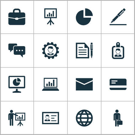 introducing: Trade Icons Set. Collection Of Payment, Diagram, Presenting Man And Other Elements. Also Includes Symbols Such As Statistic, Screen, Analytics.