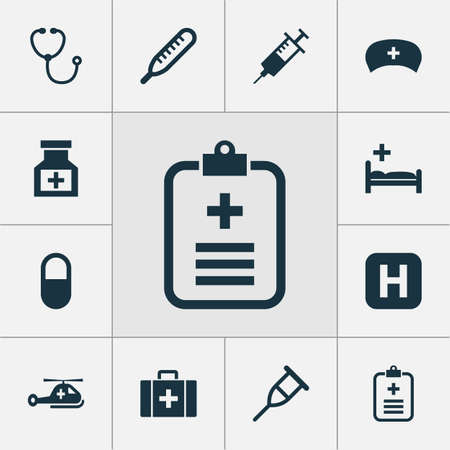 clothing rack: Antibiotic Icons Set. Collection Of Chest, Drug, Analyzes And Other Elements. Also Includes Symbols Such As Pellet, Healthy, Copter. Illustration