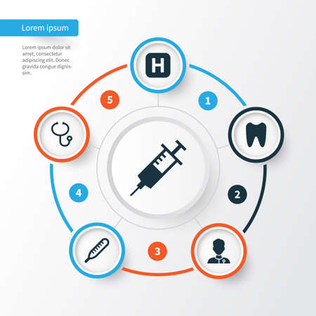 healer: Antibiotic Icons Set. Collection Of Claw, Review, Hospital And Other Elements. Also Includes Symbols Such As Tooth, Infirmary, Help.