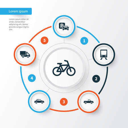 Shipment Icons Set. Collection Of Bicycle, Cabriolet, Van And Other Elements. Also Includes Symbols Such As Cabriolet, Wagon, Bicycle.