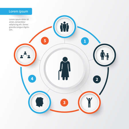 People Icons Set. Collection Of Male, Group, Network And Other Elements. Also Includes Symbols Such As Team, Woman, Relation.