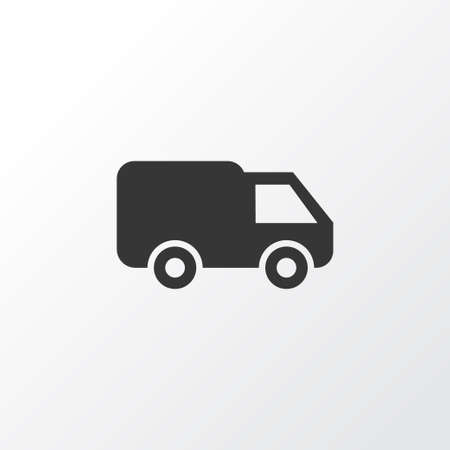 bogie: Van Icon Symbol. Premium Quality Isolated Truck Element In Trendy Style.