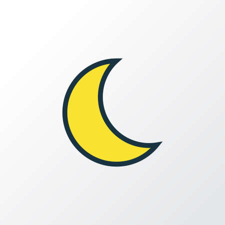 Lunar Colorful Outline Symbol. Premium Quality Isolated Moonbeam Element In Trendy Style. Illustration