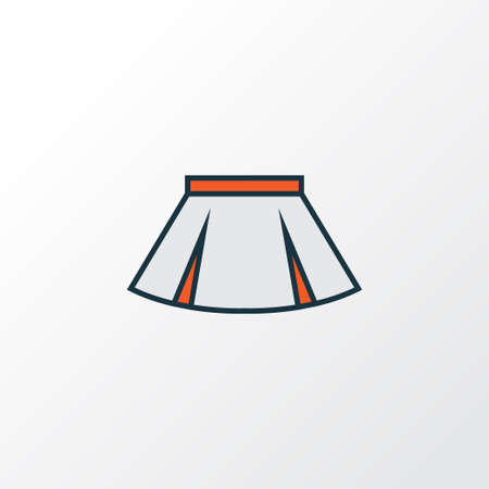 Mini Colorful Outline Symbol. Premium Quality Isolated Skirt Element In Trendy Style.