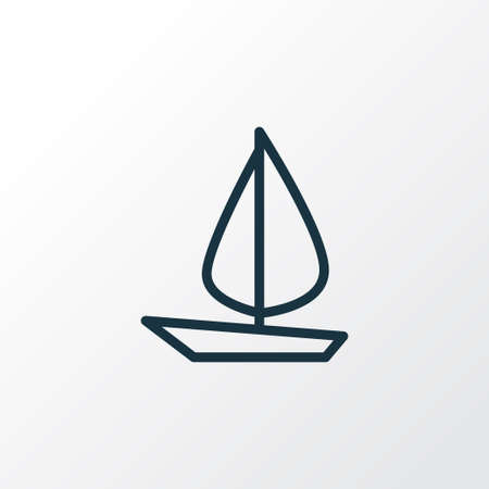 wave tourist: Sail Boat Outline Symbol. Premium Quality Isolated Ship  Element In Trendy Style.