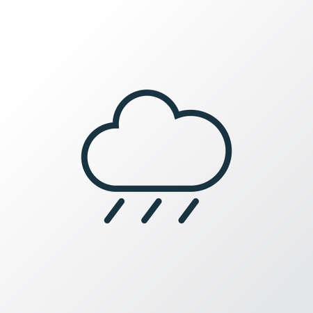 humidity: Rainfall Outline Symbol. Premium Quality Isolated Rain Element In Trendy Style.
