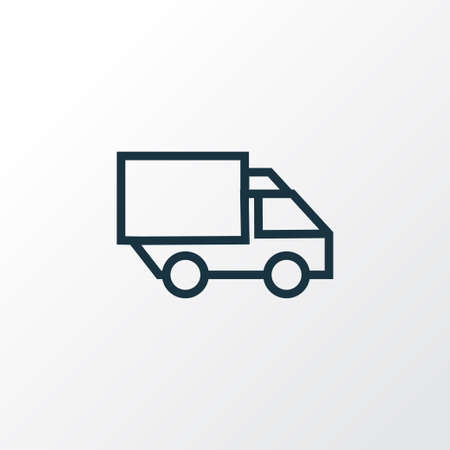 bogie: Lorry Outline Symbol. Premium Quality Isolated Camion Element In Trendy Style.