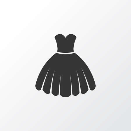 Dress Icon Symbol. Premium Quality Isolated Sarafan Element In Trendy Style. Illustration