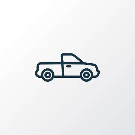 Pickup Outline Symbol. Premium Quality Isolated Van Element In Trendy Style. Illustration