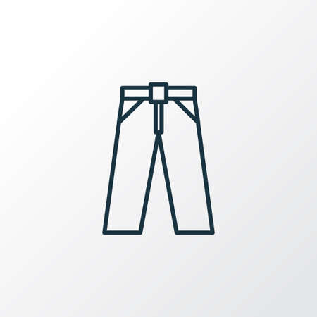 closet: Trousers Outline Symbol. Premium Quality Isolated Pants Element In Trendy Style.