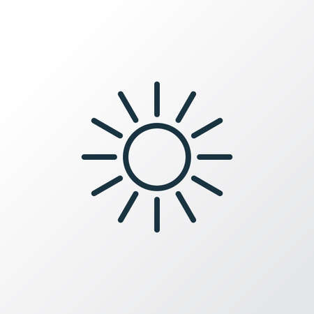 Sunshine Outline Symbol. Premium Quality Isolated Sun Element In Trendy Style. Illustration