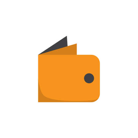Wallet Flat Icon Symbol. Premium Quality Isolated Billfold Element In Trendy Style. Illustration