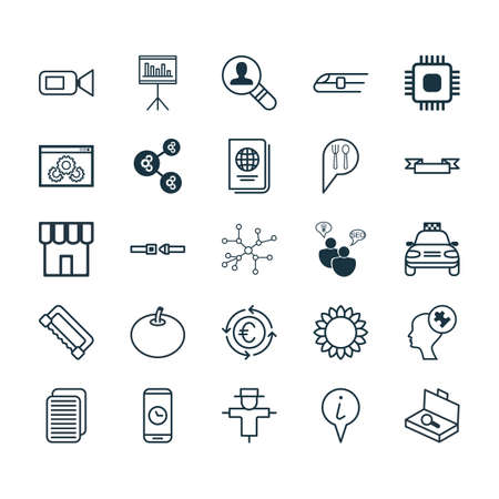 documentation: Set Of 25 Universal Editable Icons. Can Be Used For Web, Mobile And App Design. Includes Elements Such As Identification Document, Bugbear, Check In And More.