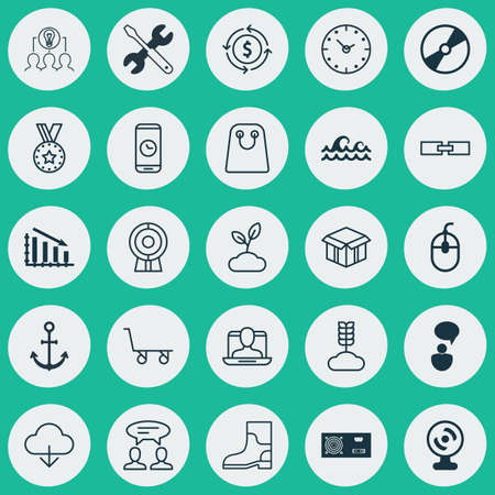 laptop repair: Set Of 25 Universal Editable Icons. Can Be Used For Web, Mobile And App Design. Includes Elements Such As Medal, Plant, Cargo Cart And More.
