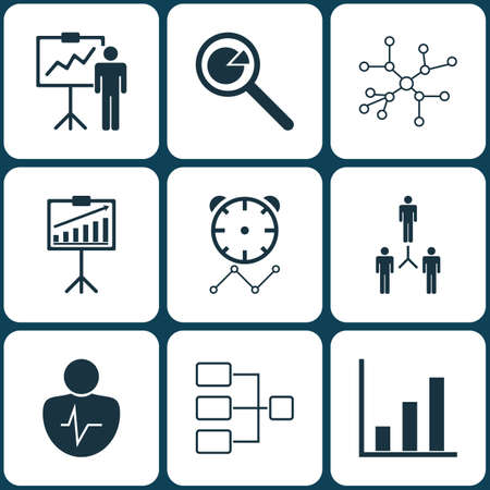 advantages: Set Of 9 Board Icons. Includes Report Demonstration, Group Organization, Reminder And Other Symbols. Beautiful Design Elements.
