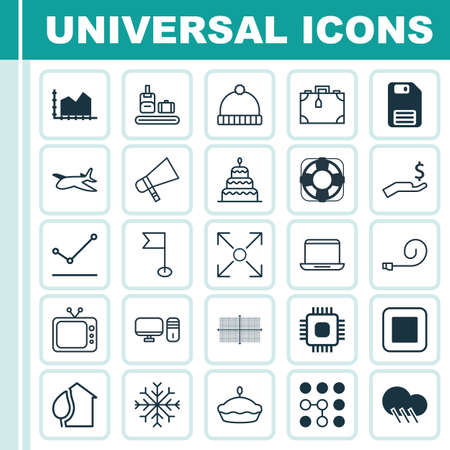 flan: Set Of 25 Universal Editable Icons. Can Be Used For Web, Mobile And App Design. Includes Elements Such As Stop Button, Flan, Suitcase And More.